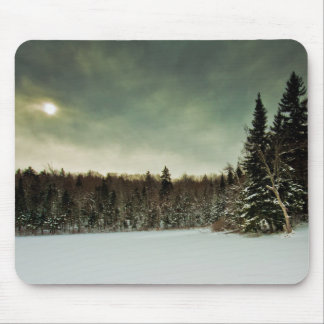 Nice hike over frozen lake in state of Vermont Mouse Pad