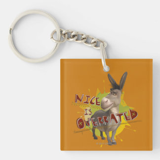 Nice Is Overrated Double-Sided Square Acrylic Keychain