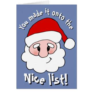 Nice List Christmas Card