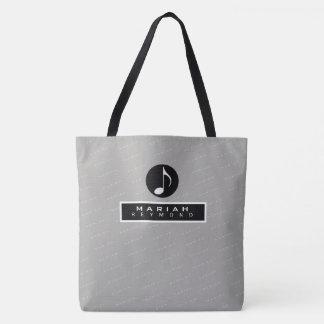 nice modern black all-over music tote bag