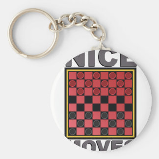 Nice Moves Basic Round Button Keychain