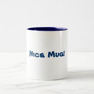 Nice Mug! Two-Tone Coffee Mug