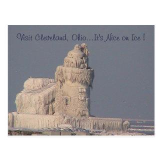 Nice on Ice (Frozen Lighthouse) Postcard