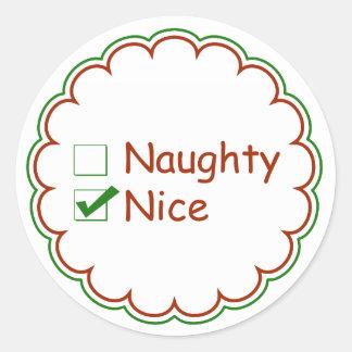 Nice or Naughty Christmas Stickers