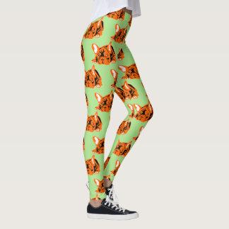 Nice orange French Bulldoggen Leggings