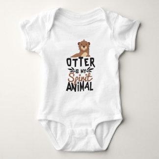 Nice Otter Is My Spirit Animal Print Baby Bodysuit