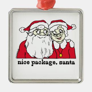 Nice Package Santa Claus Metal Ornament