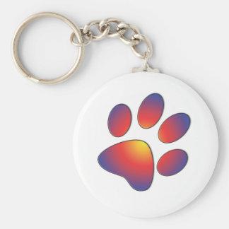 Nice Paw Print Design Keychain