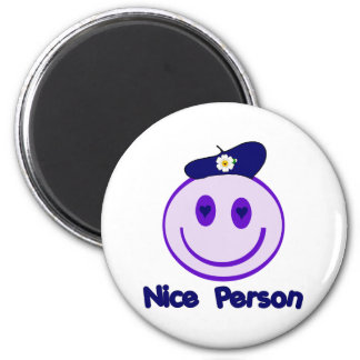 Nice Person Smiley 2 Inch Round Magnet