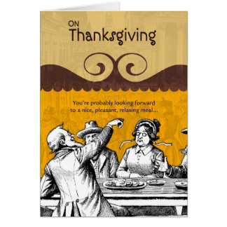 Nice Pleasant Meal on Thanksgiving Greeting Card