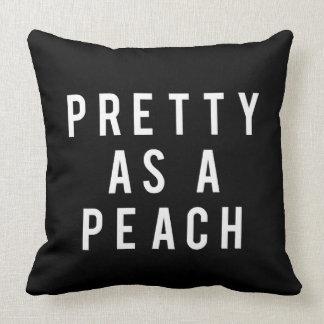 Nice Pretty As A Peach Print Throw Pillow