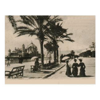 Nice promenade by the beach Replica postcard 1908