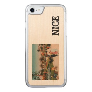 NICE promonade 1910 vintage postcard Carved iPhone 8/7 Case