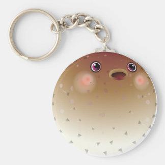 Nice puffer fish basic round button keychain