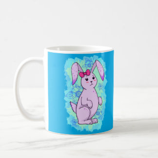 Nice purple rabbit with loop coffee mug