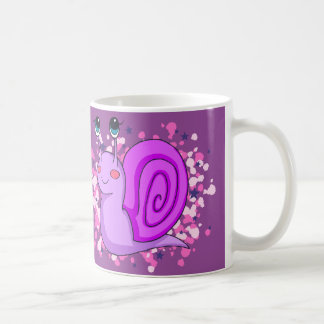 Nice purple snail coffee mug