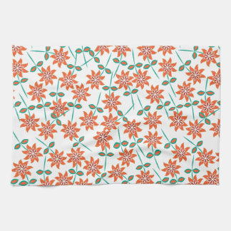 Nice Red-orange color lilies. Girly Kitchen Towel