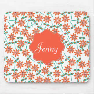 Nice Red-orange color lilies. Girly Mouse Pad
