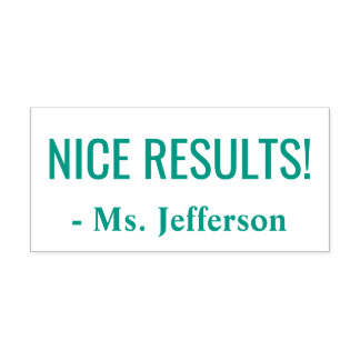 """""""NICE RESULTS!"""" Commendation Rubber Stamp"""
