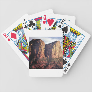 nice rock monument bicycle playing cards