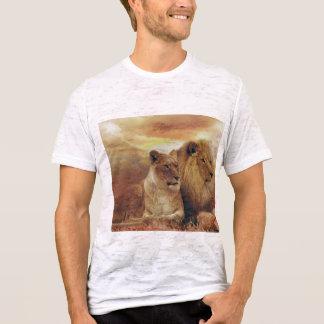 Nice shirt with lion and hong-kong city wallpaper