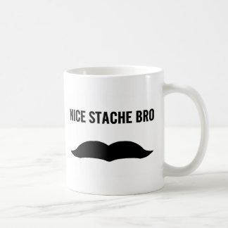 Nice Stache Bro Coffee Mug
