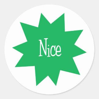 Nice (Starburst) Classic Round Sticker