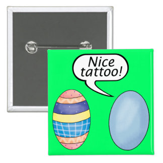 Nice Tattoo Easter Eggs 2 Inch Square Button
