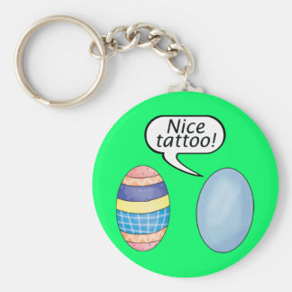 Nice Tattoo Easter Eggs Basic Round Button Keychain