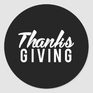 Nice Thanks Giving Print Classic Round Sticker