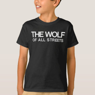 Nice The Wolf of all Streets Print T-Shirt