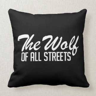 Nice The Wolf of all Streets Print Throw Pillow