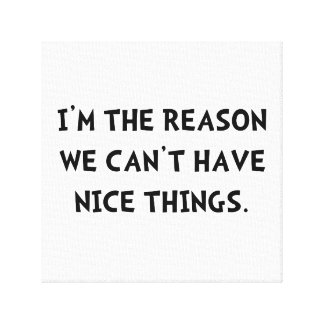 Nice Things Stretched Canvas Prints