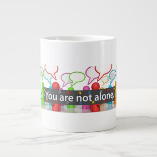 Nice to know we are not alone in our mental health large coffee mug