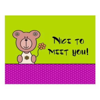 Nice to meet you! post card