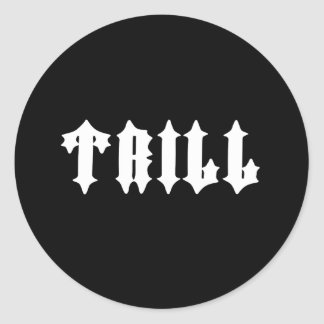 Nice Tril Print Classic Round Sticker
