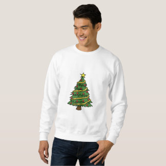 NICE WHITE SWEATSHIRT : CHRISTMAS
