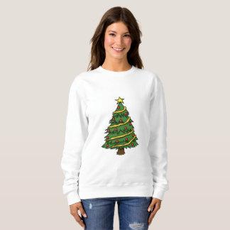 NICE WHITE SWEATSHIRT : CHRISTMAS