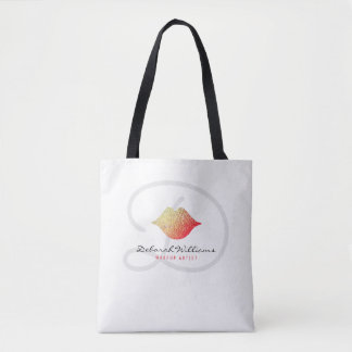 nice white tote bag with her name & woman lips