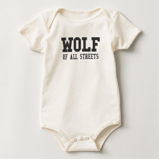 Nice Wolf of all Streets Print Baby Bodysuit