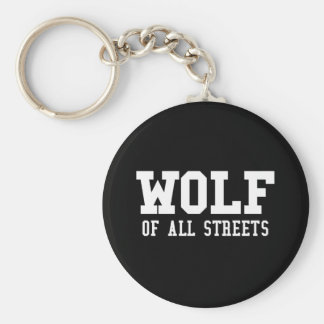 Nice Wolf of all Streets Print Keychain