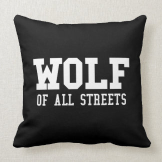Nice Wolf of all Streets Print Throw Pillow