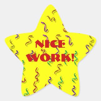 Nice Work Reward Stickers