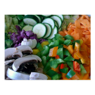 Nicely chopped mixed vegetables postcard