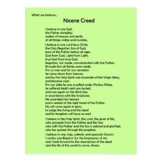 Nicene Creed Postcard ~ Customizable
