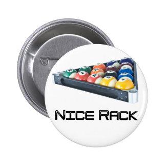 NiceRack Black 2 Inch Round Button