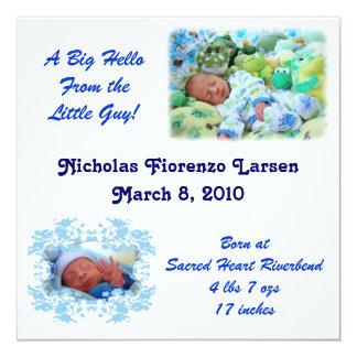 Nicholas Baby Annoucement Card