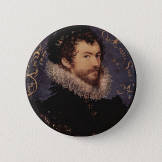 Nicholas Hilliard, Self-Portrait, 1577 2 Inch Round Button