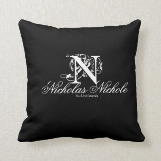 Nicholas Nichole His & Her Brands-Throw Pillow