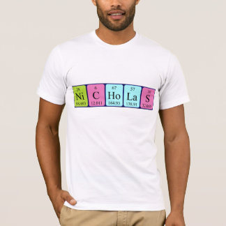 Nicholas periodic table name shirt